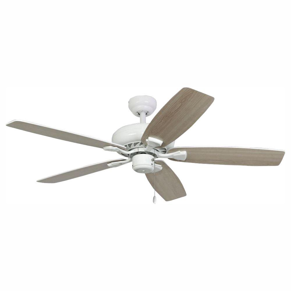 Charleston 52 in. White Energy Star Ceiling Fan