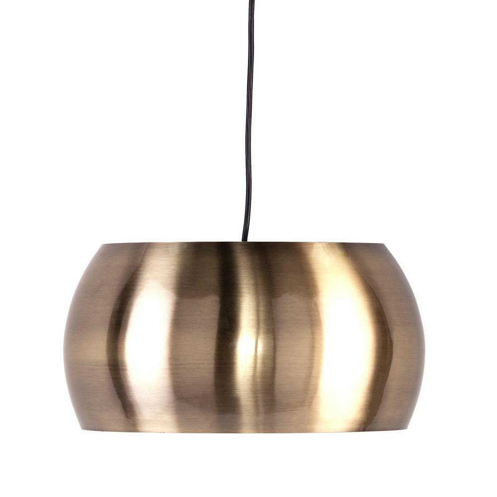 Lanni 1-Light Brushed Brass Metal Pendant Set