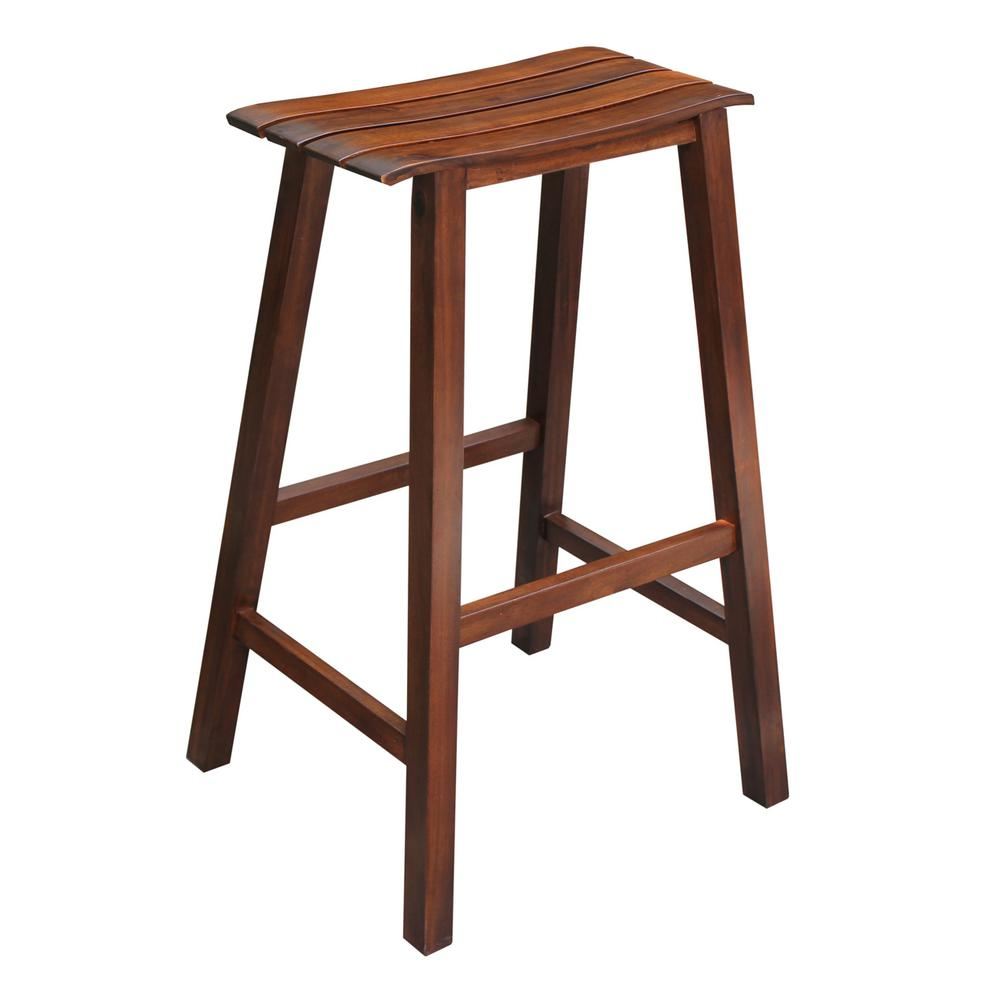 International Concepts Saddle 30 In Espresso Bar Stool