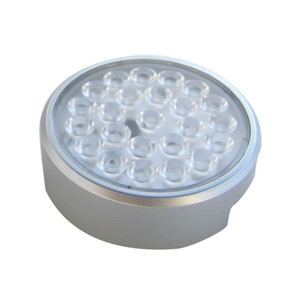 LED Silver Adjustable Bar Puck (1 Pack)