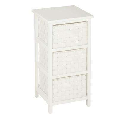 3-Drawer White Chest