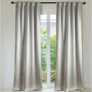 Manchester 84 inch L Cotton-Blend Ultimate Blackout Rod Pocket Window Curtain Panel Pair... by