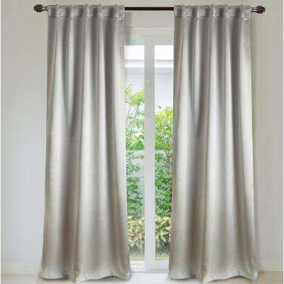 Manchester 84 in. L Cotton-Blend Ultimate Blackout Rod Pocket Window Curtain Panel Pair in Pearl (2-Pack)