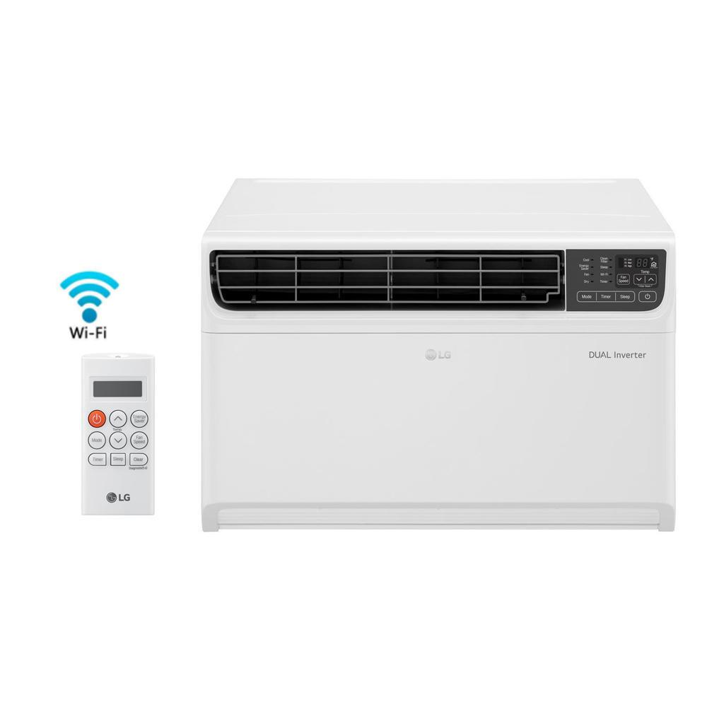 LG Electronics 14,000 BTU 115-Volt Dual Inverter Smart Window Air  Conditioner in White with