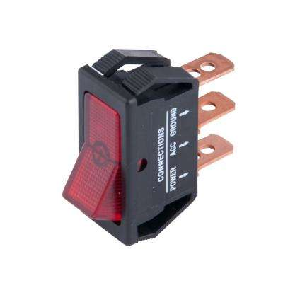 Illuminated 12-Volt DC/20 Amp Rocker Switch, Red