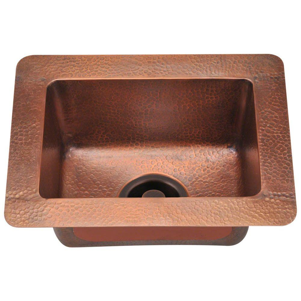 Undermount Copper 17 in. Single Bowl Kitchen Sink