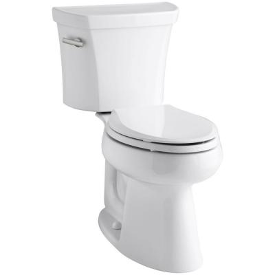 Highline 2-piece 1.6 GPF Single Flush Elongated Toilet in White, Seat Not Included