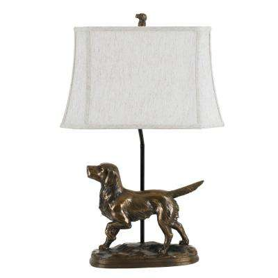29 in. Resin Table Lamp in Bronze Finish