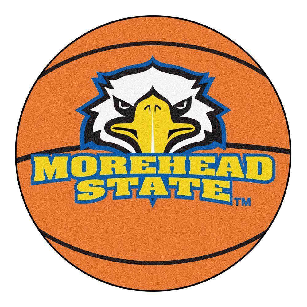 NCAA Morehead State University Orange 2 ft. x 2 ft. Round Area Rug