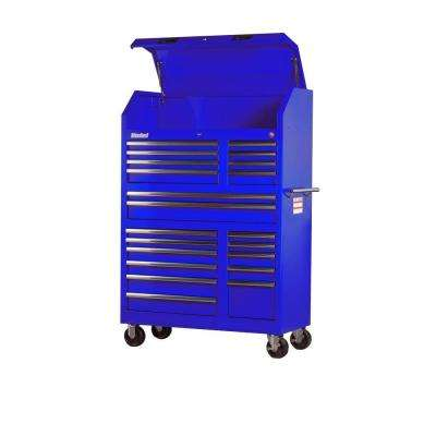 Tech Series 42 in. 20-Drawer Tool Tower in Blue
