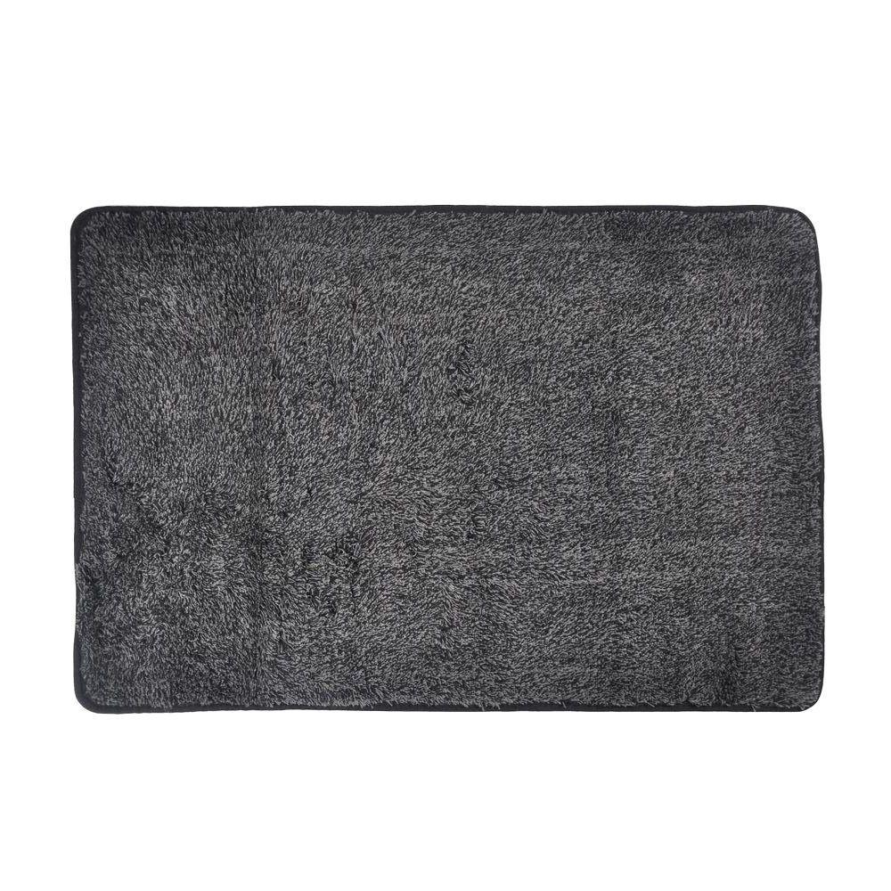 Trek N' Clean Gray/Black 20 inch x 30 inch Door Mat by