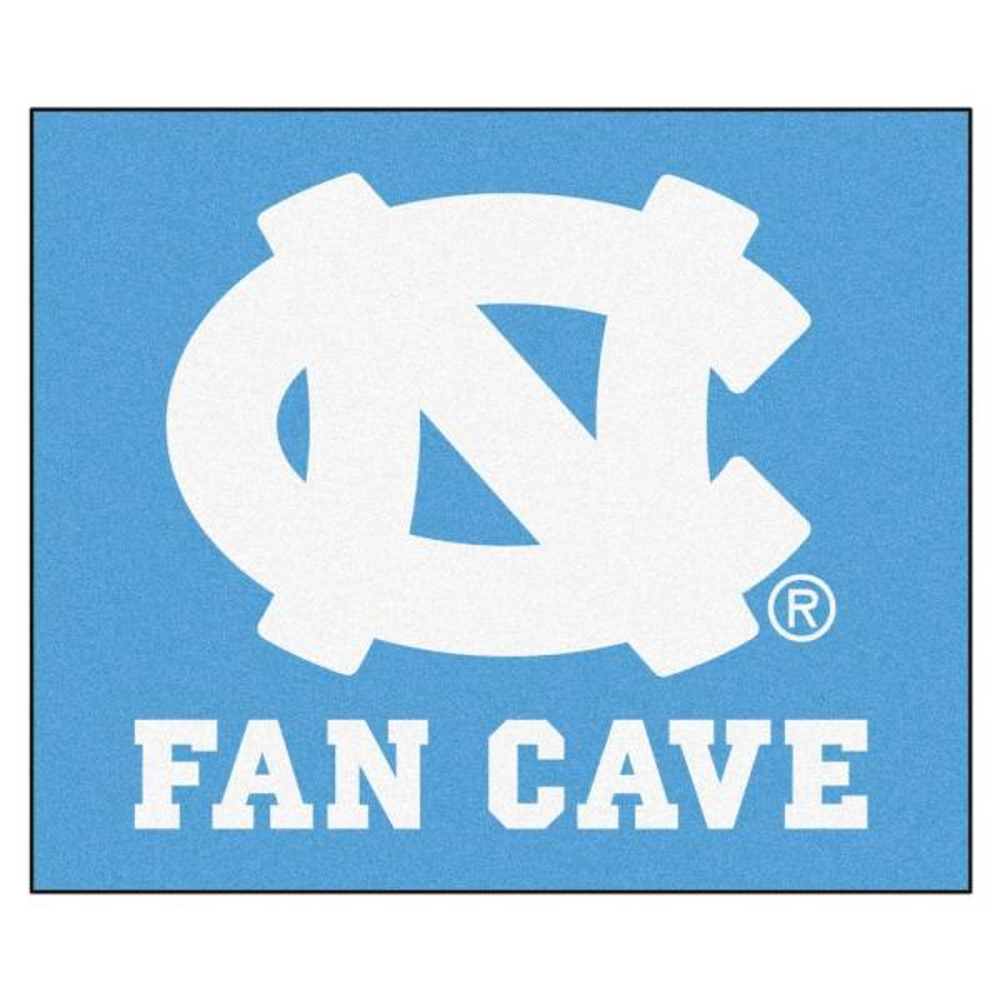 University of North Carolina Chapel Hill Blue Fan Cave 5 ft. x 6 ft. Area Rug