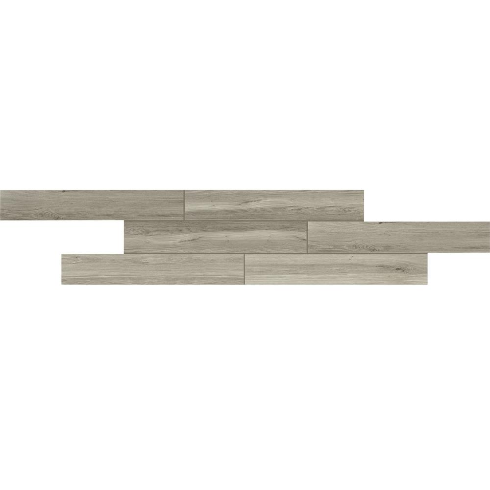 Atwood Pebble 6 in. x 36 in. Glazed Porcelain Floor and