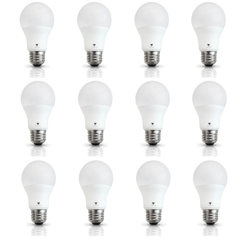 TriGlow 60-Watt Equivalent A19 Dimmable Cool White LED ...