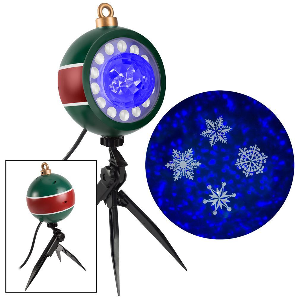 Blue/White Christmas LightShow Projection Plus Kaleidoscope Plus Whirl-A-Motion-SnowFlurry