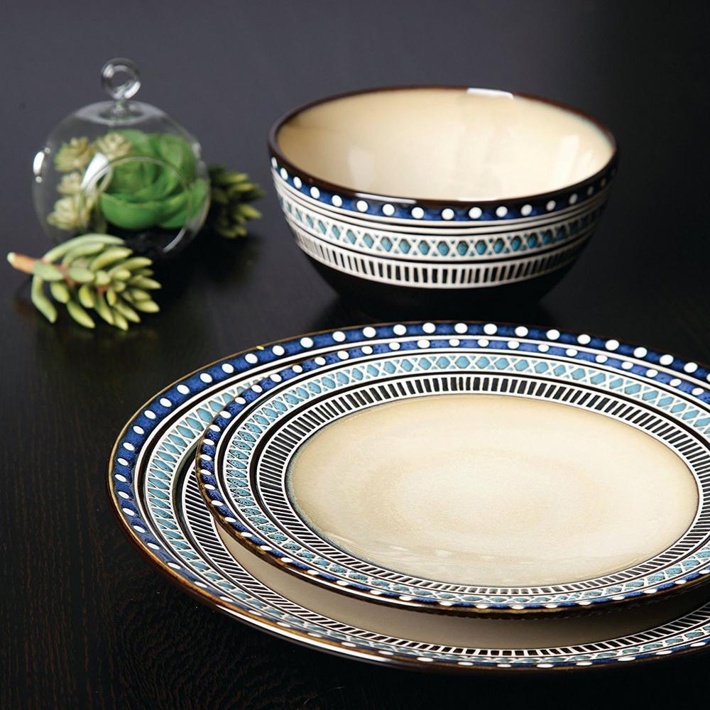 GIBSON elite Magello 16-Piece Cream Color Dinnerware Set