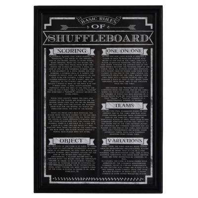 Shuffleboard Game Rules Wall Art
