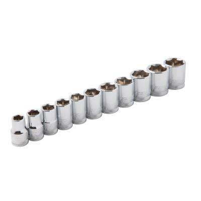 3/8 in. Drive Metric 6-Point Chrome Socket Set (11-Piece)