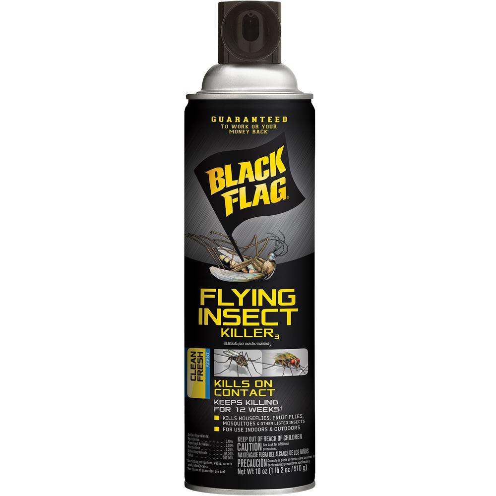 Black Flag Flying Insect Killer 18 oz Aerosol Clean Fresh Scent