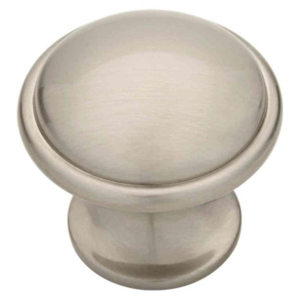 Lovely Satin Nickel Oversized Wide Base Round Cabinet Knob P19453C SN CP   The  Home Depot