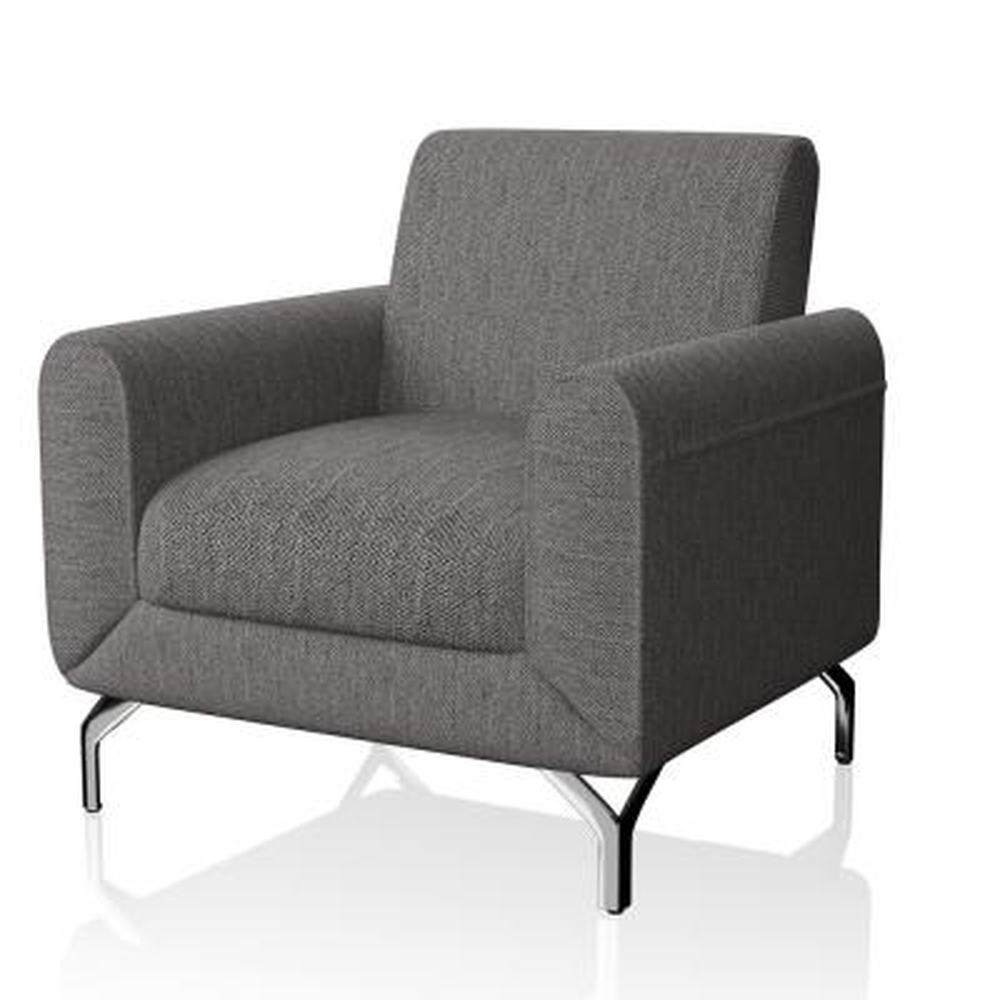 Eleanor Brown Linen Accent Chair