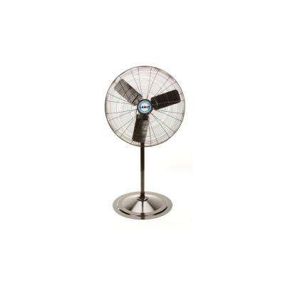 Adjustable-Height 30 in. Industrial-Grade Oscillating Pedestal Fan