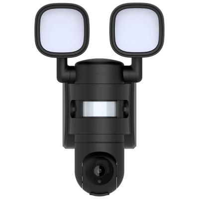 Wi-Fi 13-Watt 180-Degree Black Motion Activated Outdoor Integrated LED Area Light with 720p HD Camera