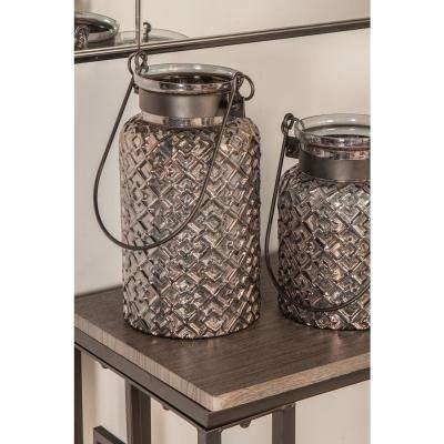 Clear Geometric Design Candle Lantern