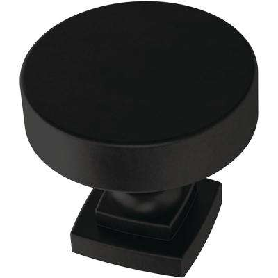 Classic Bell 1-1/4 in. (32mm) Matte Black Cabinet Knob (4-Pack)
