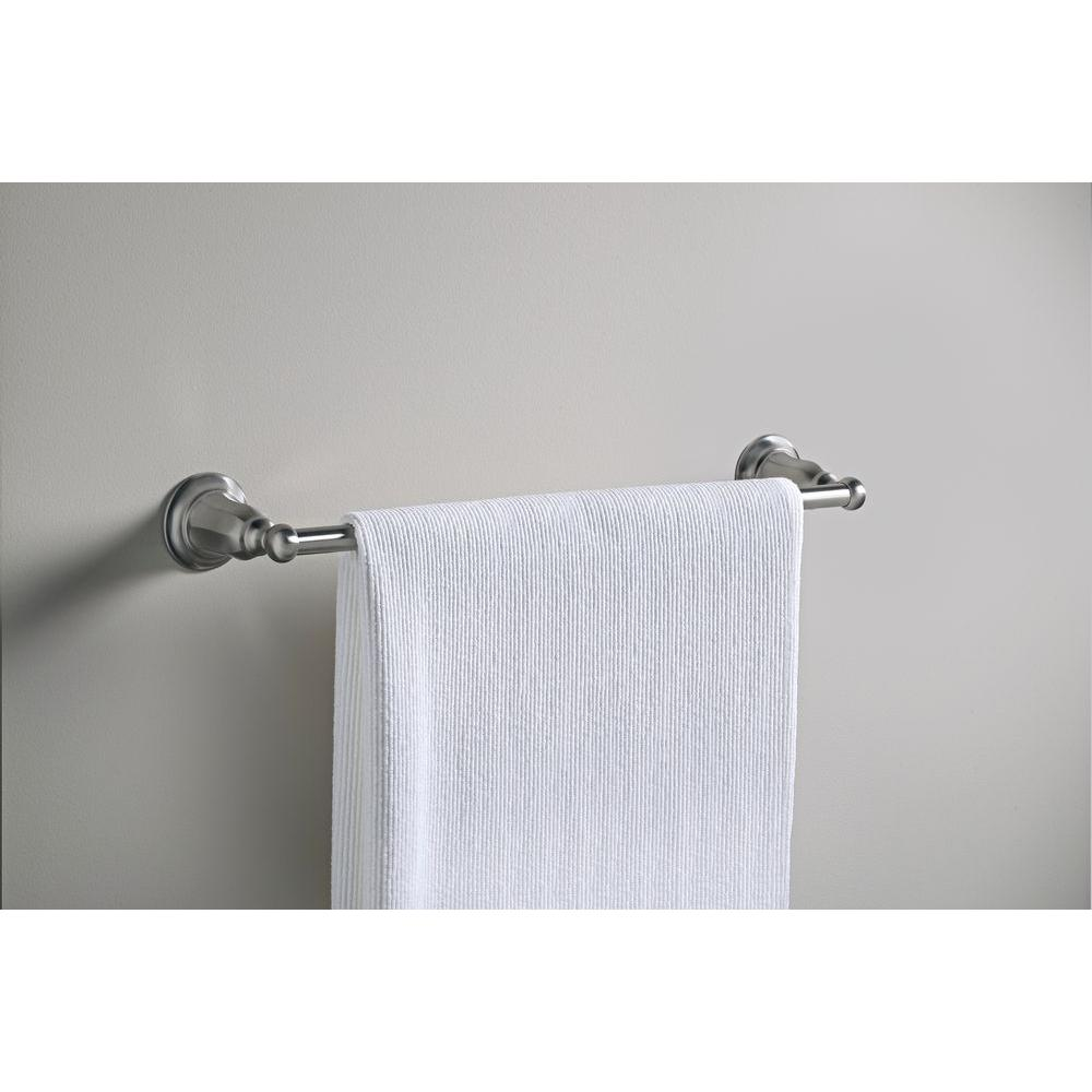 Vibrant Brushed Nickel KOHLER K-13500-Bn Kelston 18-Inch Towel Bar