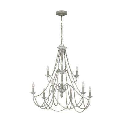 Maryville 9-Light Washed Grey Chandelier