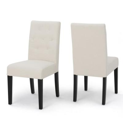 Gentry Ivory Fabric Parsons Chair (Set of 2)