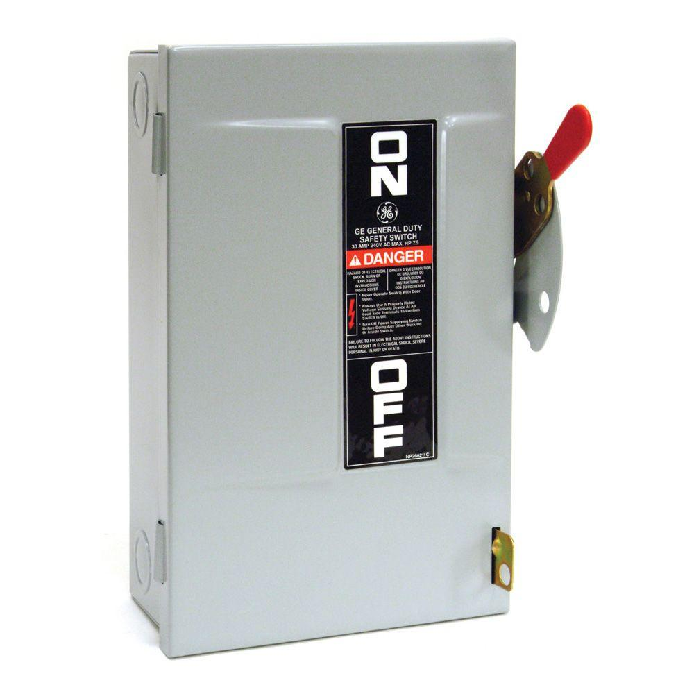 GE 30 Amp 240-Volt Non-Fuse Indoor Safety Switch-TGN3321CP - The ...