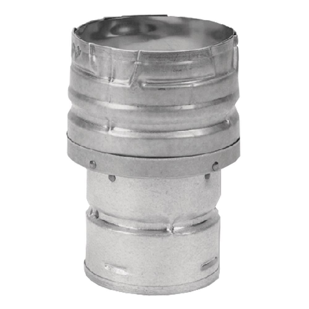 CHIMNEY STOVE PIPE ADAPTER Wood Pellet Fuel Twist Lock Double Head Durable Steel