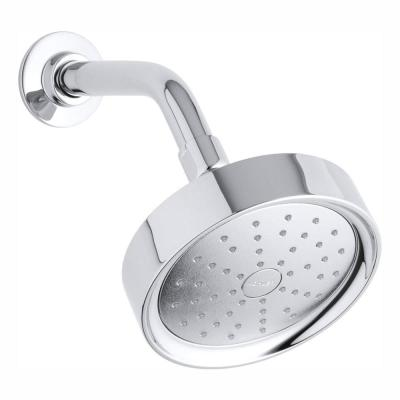 Purist 1-Spray 5.5 in. Single Wall Mount Low Flow Fixed Shower Head in Polished Chrome