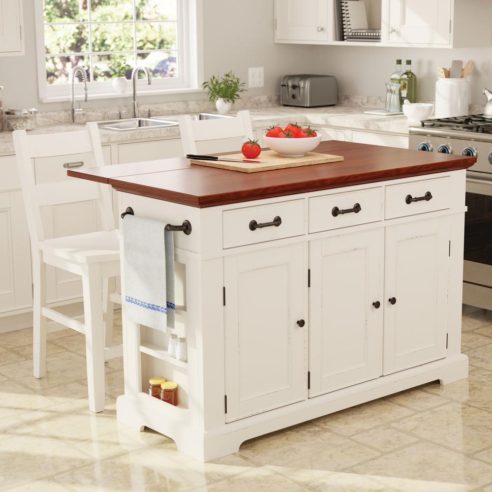 terrific antique white kitchen island   Inspired by Bassett Country Kitchen Large Kitchen Island ...