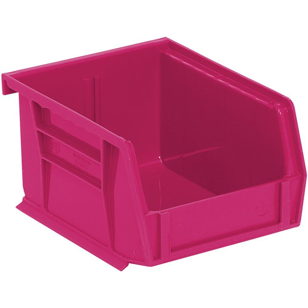 Ultra Series Stack and Hang 1.2 Gal. Storage Bin in Pink (24-Pack)