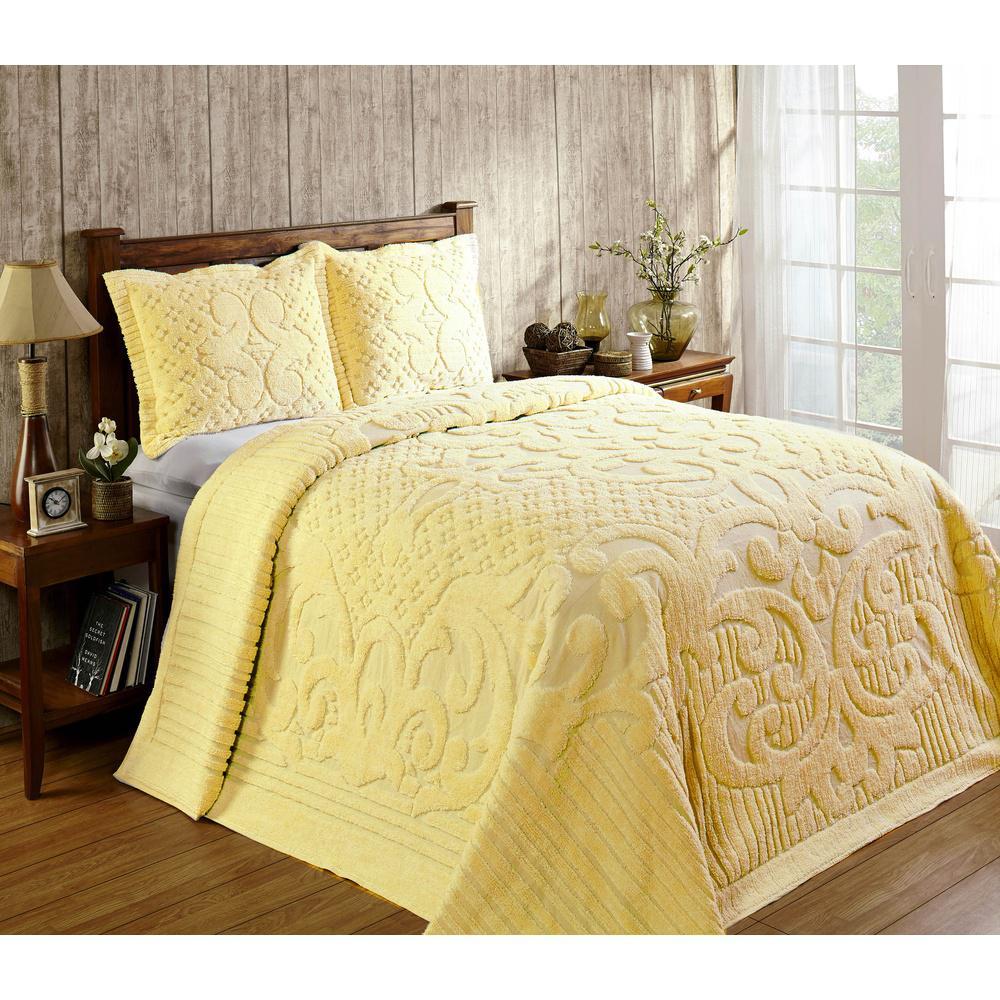 Ashton 1-Piece Yellow Full Bedspread