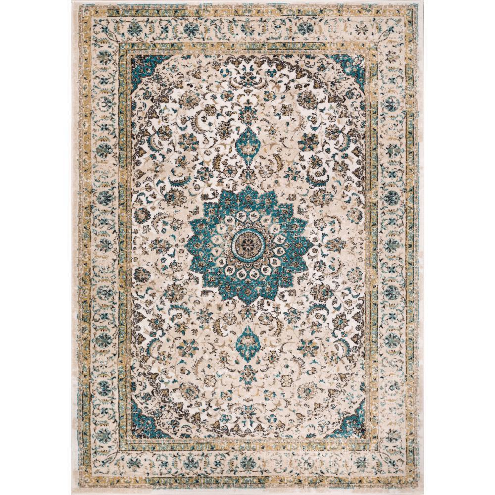 Well Woven Luxbury Mahal Traditional Vintage Persian