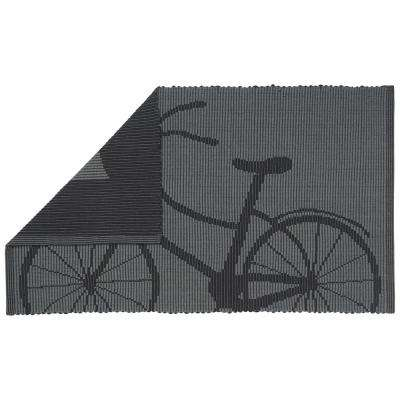 Jacquard Bicyclette 34 in. x 20 in. Floor Mat