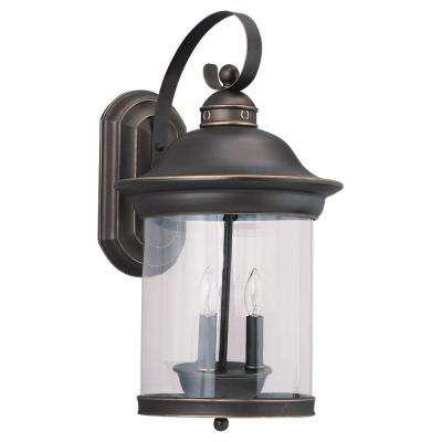 Hermitage 3-Light Antique Bronze Outdoor Wall Lantern Sconce