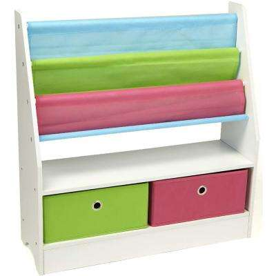 Wood Collapsible Drawer Storage Book Shelf