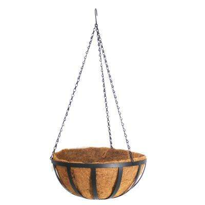 12 in. Dia Metal Hanging Basket with Coco Liner