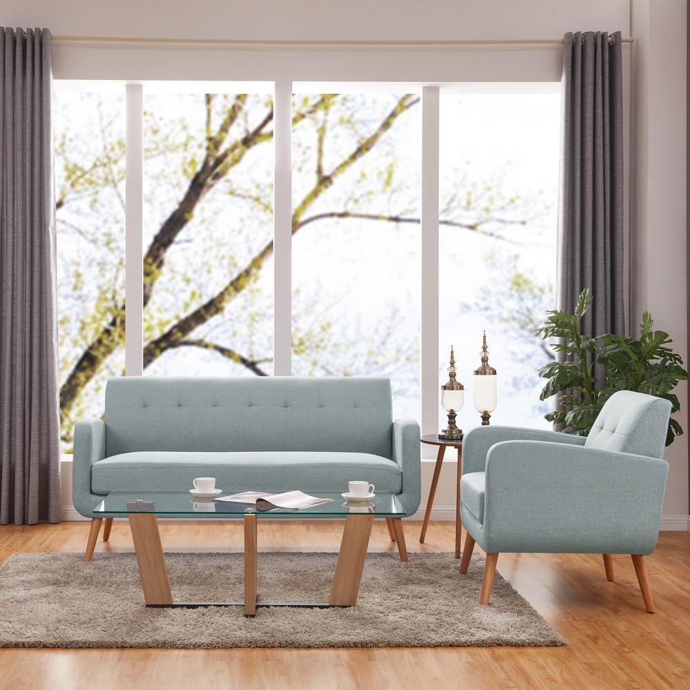 Handy Living Kingston Mid Century Modern Sofa and Arm Chair ...