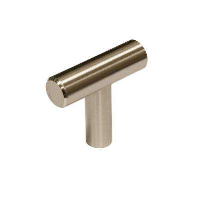 1-9/16 in. Brushed Nickel Contemporary Steel Cabinet Knob