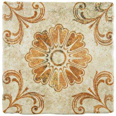 Costa Arena Decor Fleur 7-3/4 in. x 7-3/4 in. Ceramic Floor and Wall Tile (11.5 sq. ft. / case)