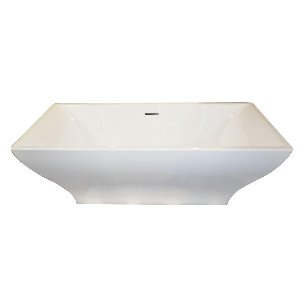 Vision 5.9 ft. Acrylic Center Drain Non-Whirlpool Flatbottom Freestanding
