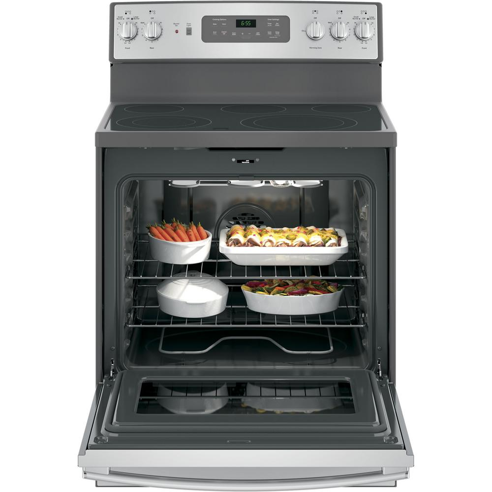GE 30 in. 5.3 cu. ft. Electric Range with Self-Cleaning Convection Ge Cooktop Wiring Diagram V on