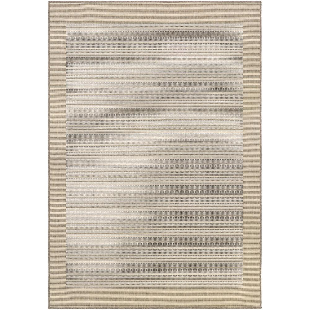 Monaco Bowline Cocoa Natural-Ivory 8 ft. x 11 ft. Indoor/Outdoor Area