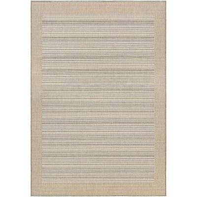Monaco Bowline Cocoa Natural-Ivory 6 ft. x 9 ft. Indoor/Outdoor Area Rug